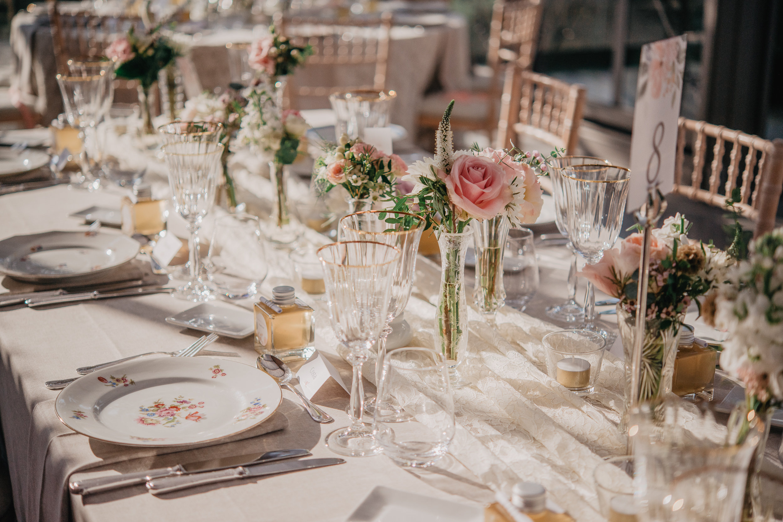 table mariage ambiance vintage chic